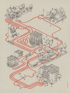 [Shaun of the Dead, story map] by Andrew DeGraff
