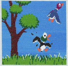 Funkymonkey's Child's Play Quilt Square: Duck Hunt