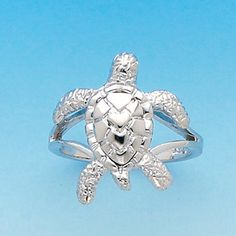 A good way to enjoy turtles with no harm...Yes... please? Sterling Silver Turtle ring by GianniDeloro on Etsy, $39.40