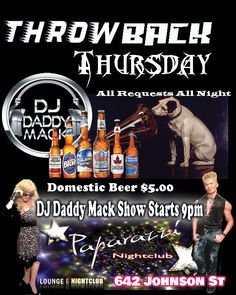 Award winning Club DJ Rod DJ Daddy Mack throwing music from back in the day into a night of music memories with a modern EDM beat remix