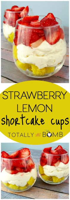 Strawberry shortcake is a classic no matter how you make it, but a lemony twist makes these Strawberry Lemon Shortcake Cups a must-try for your sweet tooth.