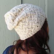 Cashmere Lattice Slouchy Hat - via @Craftsy