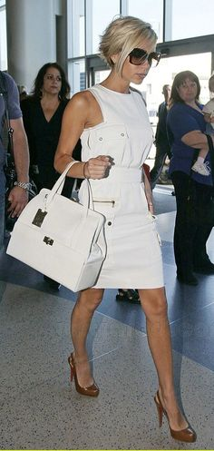 VB white little dress