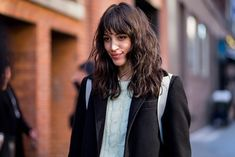 29 Fashion Girls Who Will Finally Convince You To Get Bangs +#refinery29