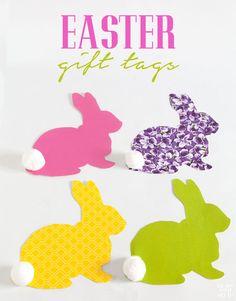 Spring bunny gift tag free printable