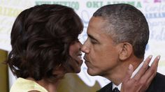 "Is it possible to love two people you've never met? I'm proof you can. #POTUS #FLOTUS ""A stately kiss."""