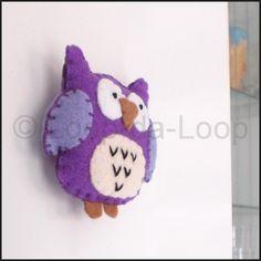 Purple owl fridge magnet £5.00