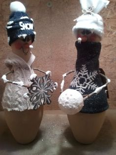 Photo: Uploaded from the Photobucket Android App. This Photo was uploaded by JanetNichols Bowling Pins, Bowling Pin Crafts, Holiday Crafts, Holiday Ideas, Christmas Ideas, Christmas Ornaments, Pin Art, Garden Club, How To Make Ornaments