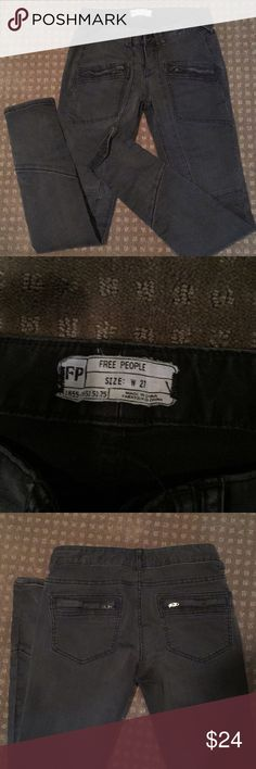 Free People black jeans Soft and comfortable, very flattering look Free People Jeans Skinny