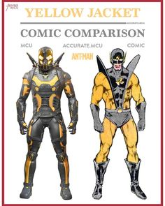 "527 Likes, 8 Comments - • Accurate.MCU • mcu fanpage (@accurate.mcu) on Instagram: ""• YELLOW JACKET - COMIC COMPARISON • Even though everyone is talking about homecoming I had to make…"""