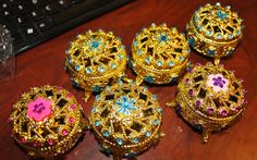 Mini joyeros, como recuerdos o decoración para mesa de dulces temáticas de Princesa Princess Favors, Mini, Fiestas, Table Decorations, Jewelry Storage, Candy Stations, Souvenirs, Princess