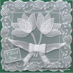 Pergarietje's Perkament Blog: Tulpenkaart Thank You