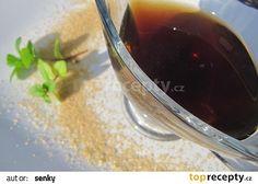 Mátový sirup recept - TopRecepty.cz Red Wine, Alcoholic Drinks, Pudding, Desserts, Food, Syrup, Tailgate Desserts, Deserts, Custard Pudding