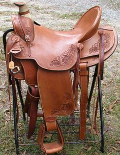 "colorful pictures of western saddles | 17"" Dale Chavez Buckaroo Saddle All Around Western Saddle #1036"
