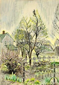CHARLES BURCHFIELD Song in the Rain (1947)