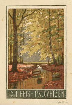 Ex libris by Otto Krebs (1870-1955)