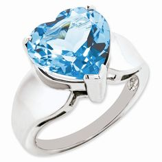 Sterling Silver Light #Swiss Blue Topaz #Ring