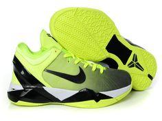98cdc422e321 Nike Zoom Kobe 7 VII System Green Black Discount Nike Shoes