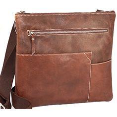 Italian Designer Bags | Kenneth Brownne Brown Leather Cross Body Bag