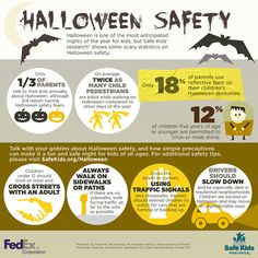 Check out this cool #Halloween infographic with facts and safety tips to keep your young ones safe