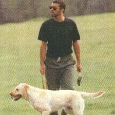 """17 Likes, 1 Comments - Wham Fan (@whamfan112) on Instagram: """"#georgemichael with his dog :)"""""""