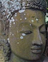 Stone Buddha photo  Buddha head photography Balinese photography ~ Buddhist ~ zen wall art ~ Buddha in garden ~ Asian decor ~ fine art $23.00 USD by SumertaDesigns