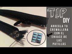 Tip DIY- Arregla el anclaje de la cremallera con envase de pastillas - YouTube
