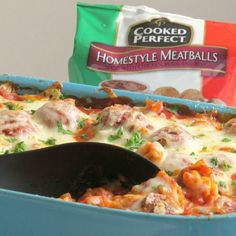 Here's a quick and easy casserole recipe that's filled with meatballs and loads of cheese.With only a few ingredients, just layer, bake, and serve.