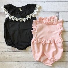 These beautiful rompers will look adorable on your baby girl. #ad #jane