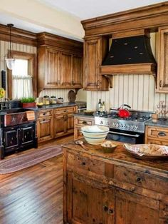 #Rustic wooden #kitchen #remodel idea