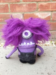 Despicable Me 2 Evil Minion Amigurumi Crochet Pattern via Etsy