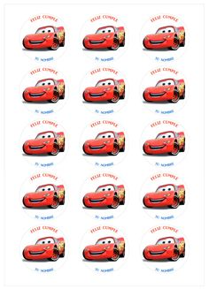Disney Cars Party, Disney Cars Birthday, Cars Birthday Parties, Lightning Mcqueen, Stickers, Ideas, Lightning Mcqueen Party, Car Party