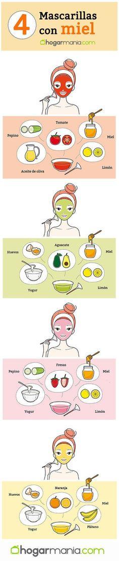 4 mascarillas faciales caseras con miel - Hogarmania - Care - Skin care , beauty ideas and skin care tips Facial Tips, Face Facial, Facial Care, Facial Scrubs, Facial Masks, Skin Care Masks, Skin Mask, Face Skin Care, Health And Beauty Tips