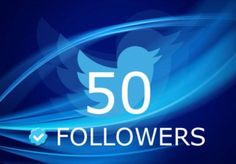 Give you 50 Twitter followers