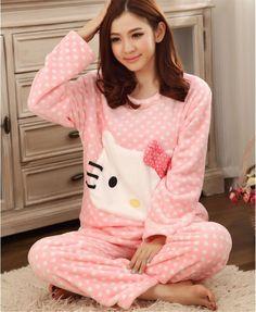 Hot sale Winter Women Flannel Pajamas Sets LOVELY Thick Warm Women Mujer Pyjama Sets Sleepwear For Ladies Nightwear Wholesale