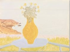 Milton Avery - Bouquet by the Sea Poster