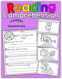 Reading Comprehension : Emergent Readers and Comprehension pages to help EARLY readers respond to the text!