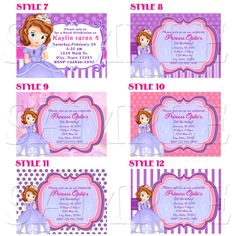 Items similar to Sofia the First Invitations, Sofia Birthday Party Invitations, Sofia Invitation Printable on Etsy