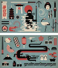 Japanese Illustrations by Studio Muti