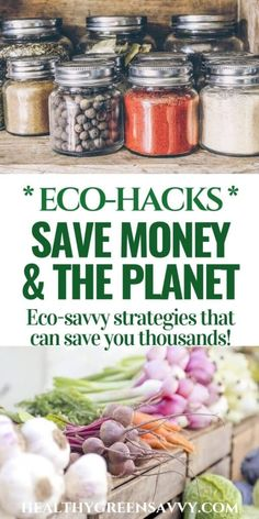 Go green to save some serious green! Check out these easy strategies for greener living that can save you hundreds, even thousands, of dollars. #EarthDay #EarthMonth #environment #ecofriendly #greenliving #saveenergy #reducefootprint