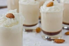 Spiked Almond Joy Shooters made with Rum Chata !!