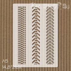 Трафарет Протектор шин. Размер А5   14,8*21см