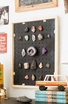 rocks collected from caves & trips:  label & display. learn...