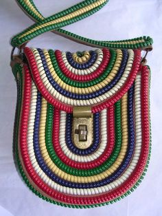 Vtg 40s Telephone Phone Cord Purse