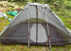 Leaving tent poles home :)