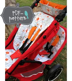 Phil and Teds Stroller Accessories PDF (Sewing Pattern). $7.00, via Etsy.  Patterns included are seat liners, shoulder strap covers, and a handlebar organizer with a drape sun cover for the back seat.  In case this doesn't catch back, here's a link http://www.etsy.com/listing/82423565/phil-and-teds-stroller-accessories-pdf#