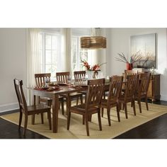 A-America TOLRA Toluca Vers-A-Table Dining Set This A-America Dining Set is offered in a rustic amber finish. Toluca Vers-A-Table Dining SetIncludes: V… Extension Dining Table, Table, Dining Room Table, Dining Room Furniture, Furniture, Dining Table Setting, Dining Table Rustic, Dining, Dining Table