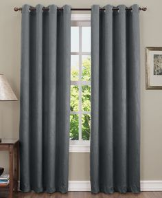 "Sun Zero Collins Crushed Room Darkening Woven Curtain 50"" x 84"" Panel"