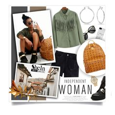 """Independant Woman..SheIn"" by melissa-de-souza ❤ liked on Polyvore featuring Michael Kors, MCM, Bling Jewelry, Sheinside and polyvoreeditorial"