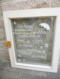 Stempelfix: Mit der Silhouette Cameo Sprüche auf alte Fenster geplottet, Plotter